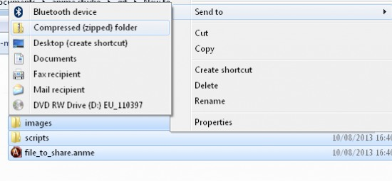 A quick way to zip files in Windows 7.  Select the files, right-click > 'Send to' > 'Compressed (zipped) folder'