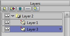 2 vector layers inside group