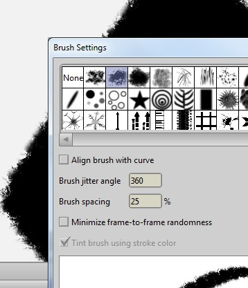 Select a 'Fluffy' brush