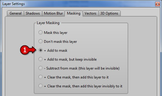 Set bottom layer to '+Add to mask'