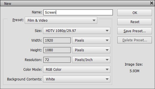 Handy presets for HDTV