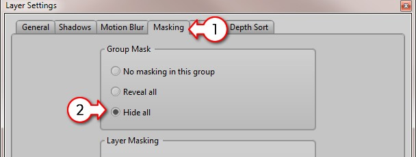 Select 'Hide all' masking