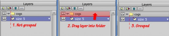How to group a layer