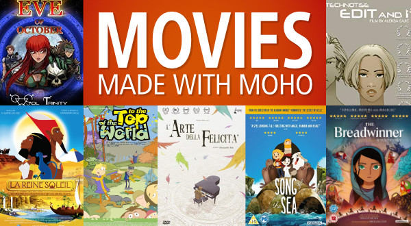Movies made with Moho