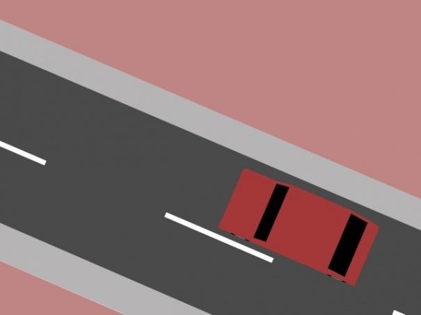 3D Car in 3D City