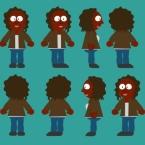 Female Aboriginal Teenager Rigged