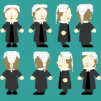Female Barrister Black Rigged