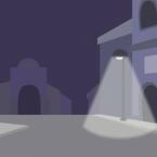 Street Night Background