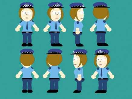Policewoman Rigged