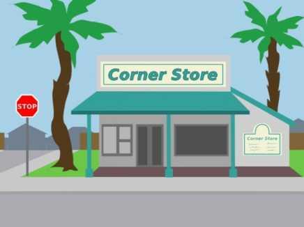 Corner Store Background