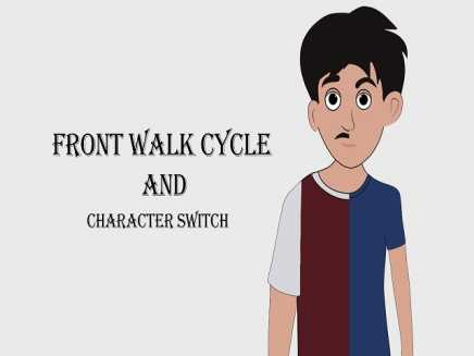 Front walk cycle and character switch