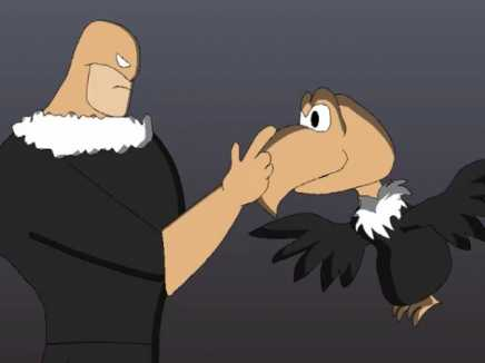 Vultureman No its a Vain Vulture Animation