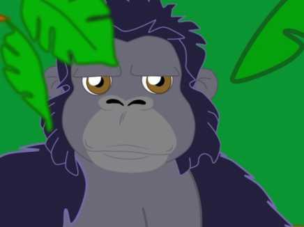 sensitive gorilla