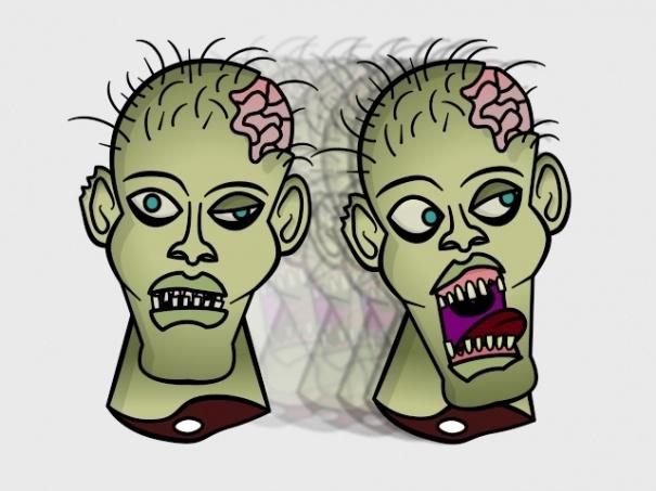 Zombie Head and Bones Actions