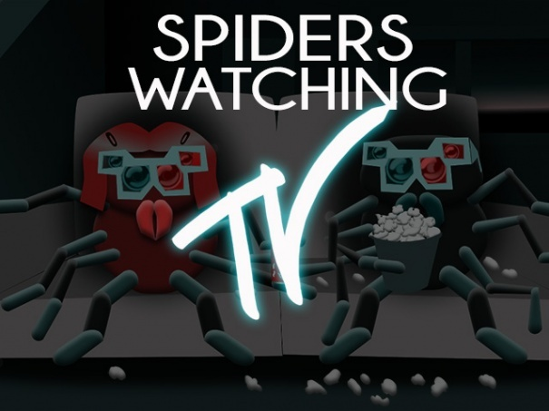 Spiders Watching TV