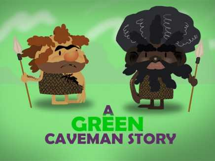 A Green Caveman Story plus Bloopers