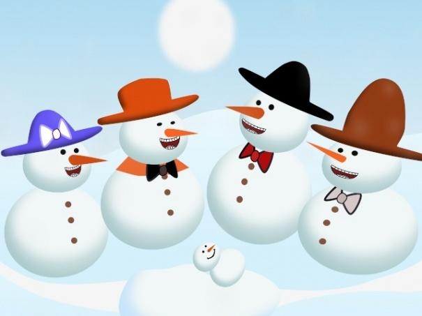 A Snowman Christmas Card