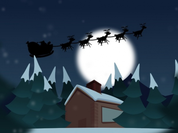 Reindeer Flying High
