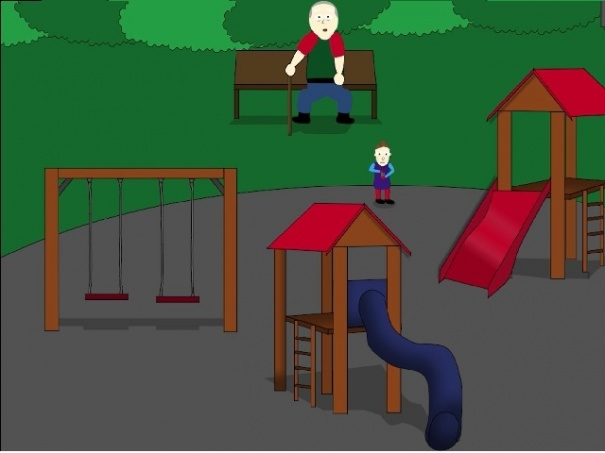 Playground with old men