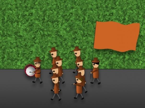 Invasion of Orange guys