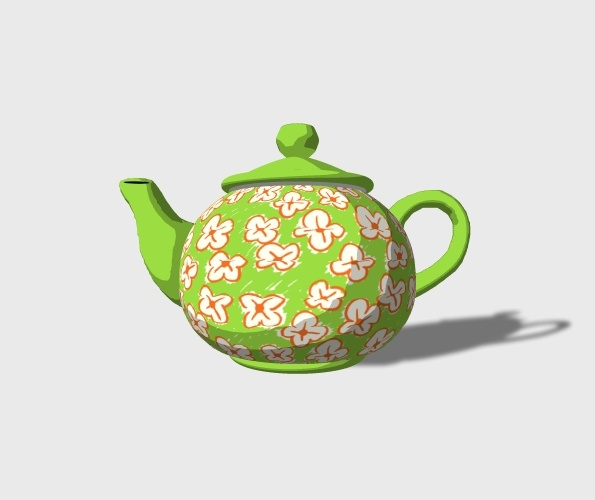 3D Teapot Preview 1