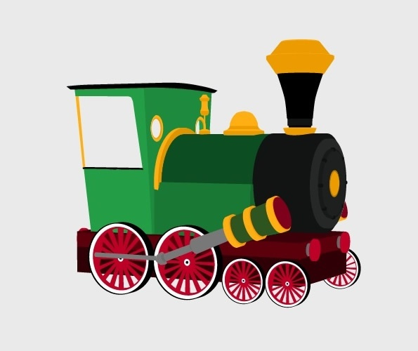 3D Cartoon Train Preview 1