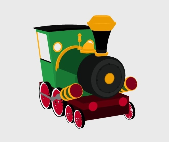 3D Cartoon Train Preview 2