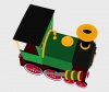 3D Cartoon Train Preview 3