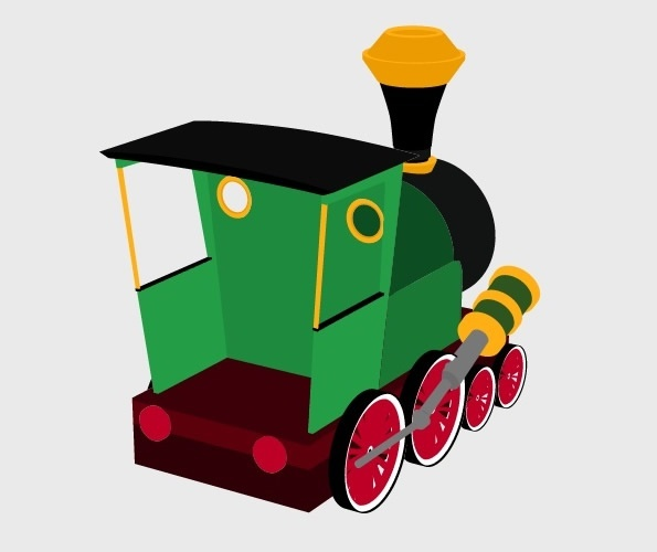 3D Cartoon Train Preview 4