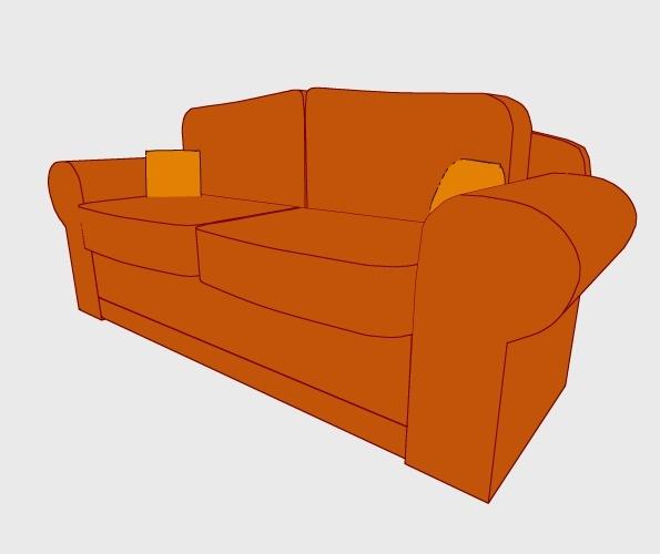 3D Sofa Preview 2