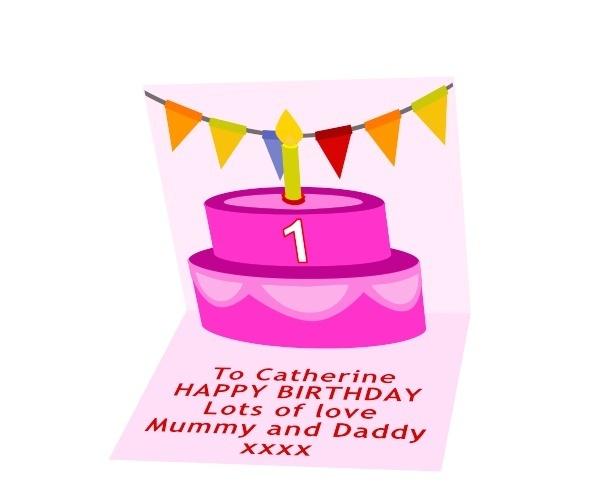 Girls Birthday Card Preview 1