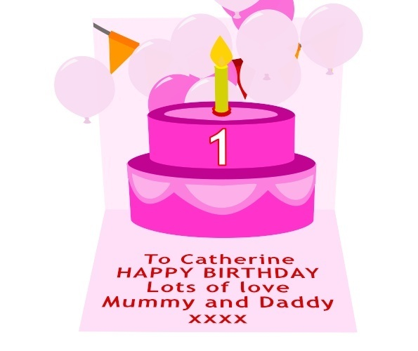 Girls Birthday Card Preview 2