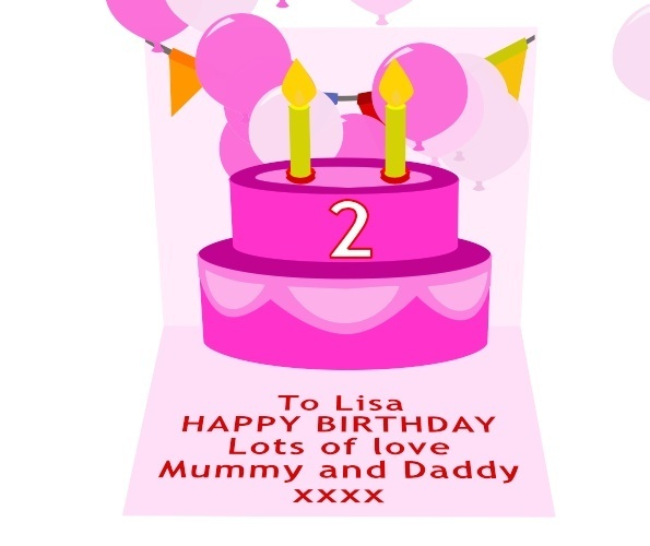 Girls Birthday Card Preview 3