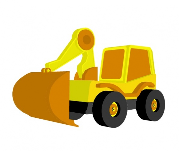 3D Toy Excavator Preview 3