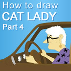 Drawing Cat Lady Part 4 Car