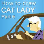 Drawing Cat Lady Part 5 Background