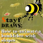 How to animate a bumblebee with shapes