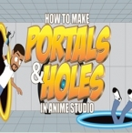 How to make portals or holes in anime studio pro