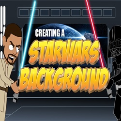 Creating a Star Wars background in Anime Studio