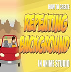 Forward Scrolling Background in Anime Studio