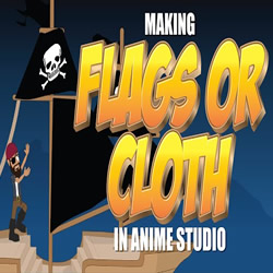 Waving Flag or Moving Cloth in Anime Studio