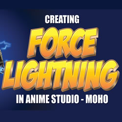 How to make force lightning in Moho (Anime Studio)