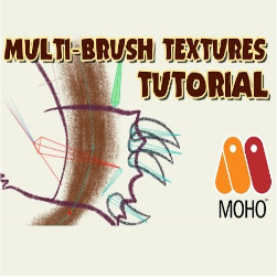 Texture Effects in Moho using the Multi-Brush