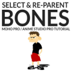 Select and Re-Parent Bones in Moho