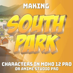 Making South Park Characters in Moho Part 3